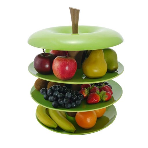 Fruit tier cropped unique apple tier ceramic fruit bowl green - Tiered fruit bowl ...