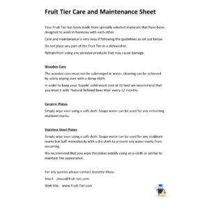 care-and-maintenance-sheet
