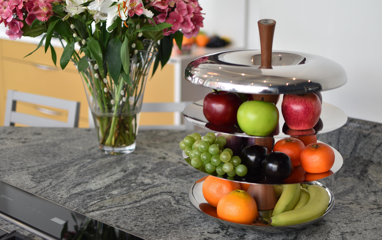 Fruit tier apple fruit tier modern stainless steel fruit bowl - Tiered fruit bowl ...
