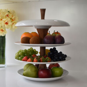 apple-fruit tier-ceramic-fruit-bowl-dove-white-1