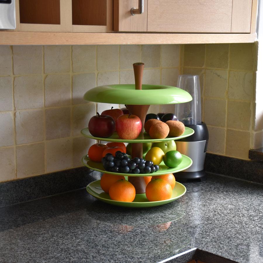 Fruit tier apple green fruit tier ceramic fruit bowl - Tiered fruit bowl ...