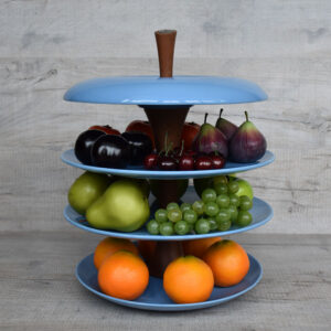 Apple-fruit-tier-ceramic-fruit-bowl-ocean-blue